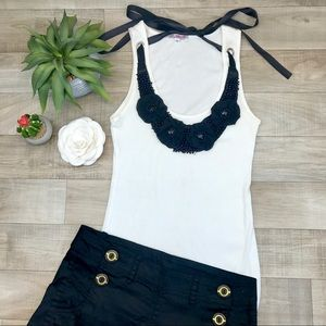 Tops - Julie's closet white tank with necklace size m